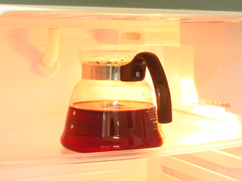 冷蔵庫で冷やす