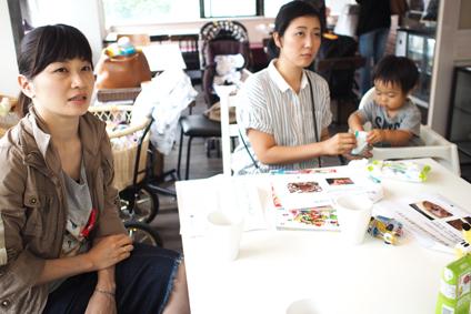 以前のたんぽぽコーヒー体験について話す竹田さん