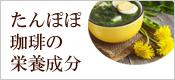 たんぽぽ茶の栄養成分